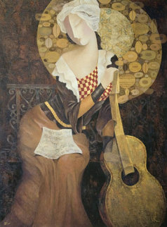 Music Becomes Her 1998 Embellished Limited Edition Print by Arbe Berberyan