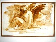 Mercury Rising Watercolor 15x19 Watercolor by Arbe Berberyan    - 1
