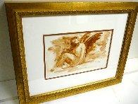 Mercury Rising Watercolor 15x19 Watercolor by Arbe Berberyan    - 4