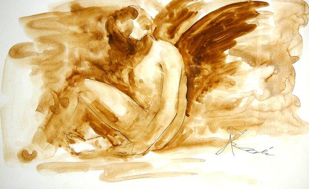 Mercury Rising Watercolor 15x19 Watercolor by Arbe Berberyan