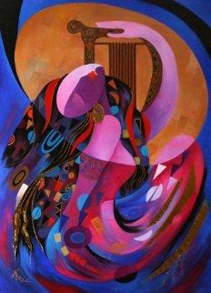 Favored One 48x36 Original Painting - Arbe Berberyan