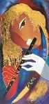Piccolo Music 40x25 Original Painting - Arbe Berberyan