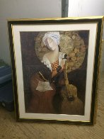 Music Becomes Her  1998 Embellished  Limited Edition Print by Arbe Berberyan    - 1
