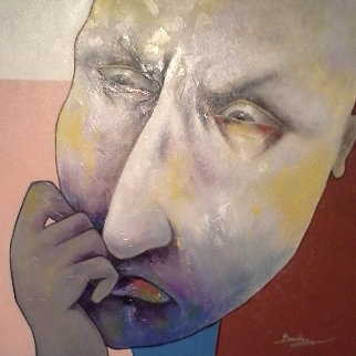 Berberyan! You Can't Be Serious  2014 43x43 Original Painting - Arbe Berberyan