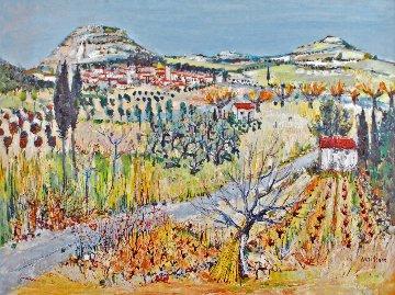 Vignes En Provence 1965 48x61 Original Painting - Yolande Ardissone