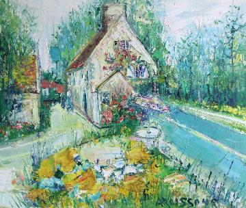Madisons En Ile De France 1991 26x29 Original Painting - Yolande Ardissone
