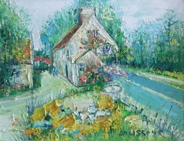 Maisons En Ile De France 1991 26x29 Original Painting - Yolande Ardissone