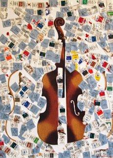 Tubes Et Violin 2002 Limited Edition Print - Arman Arman