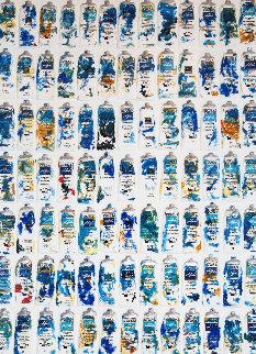 Tubes Bleues 2002 Limited Edition Print - Arman Arman