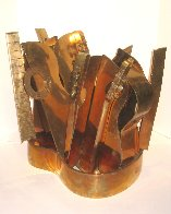 Arman Bronze Guitar Cocktail Table Base  1985 26 in Sculpture by Arman Arman - 6