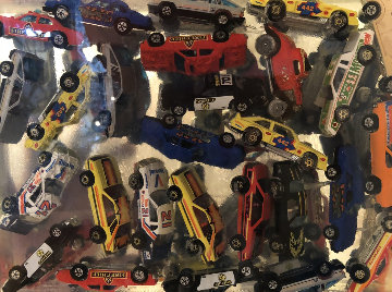 Car Accumulation (Matchbox Cars)  Resin Sculpture 1985 12 in Sculpture by Arman Arman