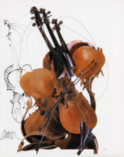 Violin - IV 18x16 Works on Paper (not prints) - Arman Arman