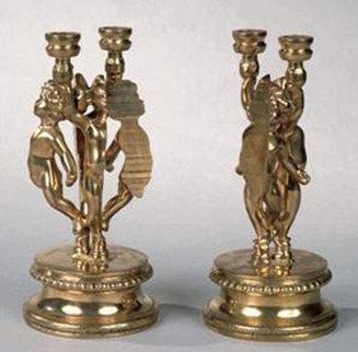 Angelots Bronze Candlesticks 1981 Sculpture by Arman Arman