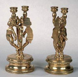 Angelots Bronze Candlesticks 1981 Sculpture by Arman Arman