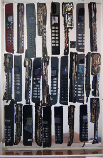 Untitled Cell Phone Sculpture 2005 Sculpture - Arman Arman