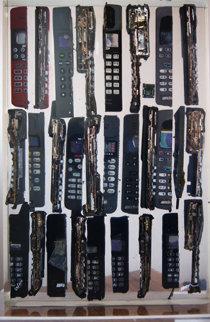 Untitled Cell Phone Sculpture 2005 Sculpture - Arman Arman