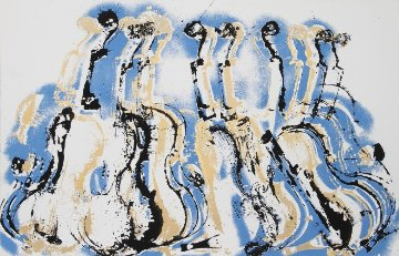 Blue Variations 1978 Limited Edition Print - Arman Arman