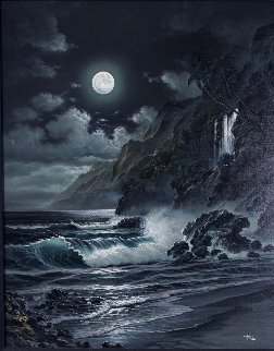 Moonlit Splendor 2005 39x33 Original Painting by  Arozi