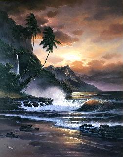 Sundown Concerto 42x36 Super Huge Original Painting -  Arozi