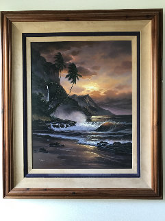 Sundown Concerto 42x36 Original Painting -  Arozi