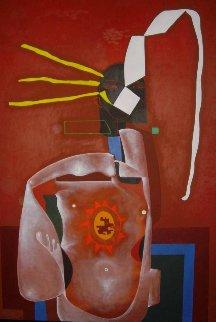 Els Catalans X 1997 65x47 Original Painting - Eduardo Arranz-Bravo