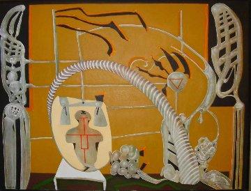 De Dia Dia 2004 33x60  Huge Original Painting - Eduardo Arranz-Bravo