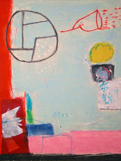 Untitled Monotype 1994 36x27 Works on Paper (not prints) by Gustavo Ramos Rivera