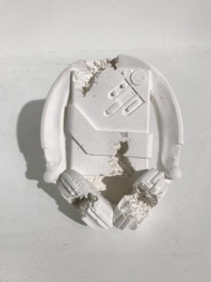 Cassette Player (Sony Walkman) Future Relic-07 Plaster Sculpture 2017 6 in  Sculpture by Daniel Arsham