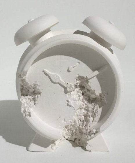 Clock (Future Relic Dafr-03) Plaster and Glass Sculpture 2015  5 in  Sculpture by Daniel Arsham