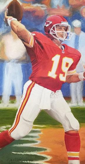 Untitled (Joe Montana) 1997 59x35 Original Painting by Thomas Arvid