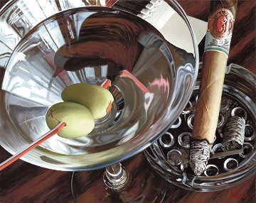 Martini-cigar 2001 Limited Edition Print by Thomas Arvid