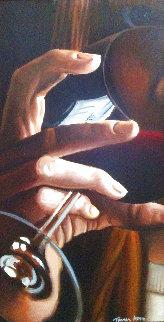 Sip 1990 40x20 Original Painting - Thomas Arvid