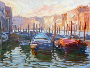 Evening View From the Fish Market 1993 Limited Edition Print by John Asaro