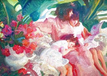 Story Time 1992 25x28 Original Painting - John Asaro