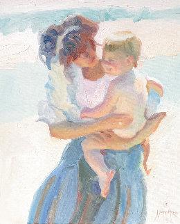 Untitled Painting 1992 29x25 Original Painting - John Asaro