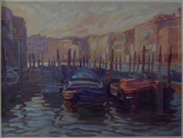 Evening View from the Fish Market PP Super Huge Limited Edition Print - John Asaro