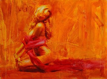 Golden Aura Embellished Limited Edition Print - Henry Asencio