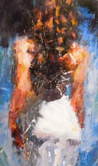 Trilogy Suite Blue Rhapsody, Scarlet Beauty And Graceful Slendor 2009 Embellished Limited Edition Print by Henry Asencio