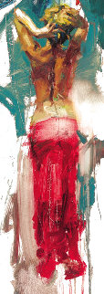 Trilogy Suite: Blue Rhapsody, Scarlet Beauty and Graceful Slendor 2009 Embellished Limited Edition Print - Henry Asencio
