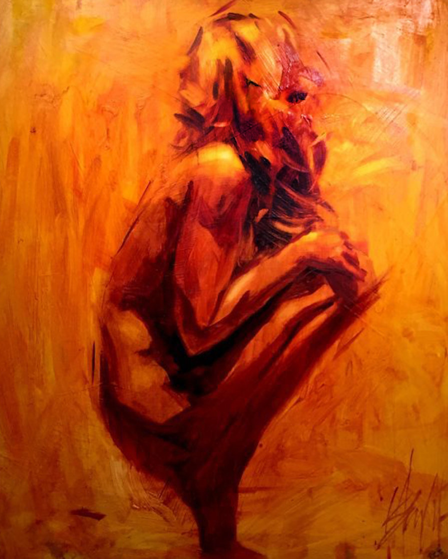Balance 42x42 Super Huge Original Painting by Henry Asencio