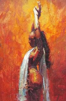 Enlightenment 2011 60x31 Original Painting - Henry Asencio