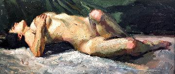 Evening Light 2005 23x42 Original Painting by Henry Asencio