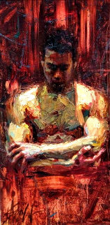 Morning Calm 2009 39x24 Original Painting - Henry Asencio