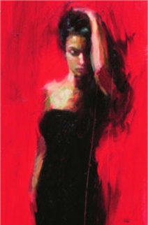 Scarlet Beauty 2008 Embellished Limited Edition Print by Henry Asencio