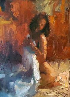 Passionate Memories 2003 31x25 Original Painting by Henry Asencio