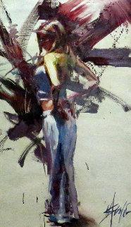Exhilaration 45x30 Original Painting by Henry Asencio