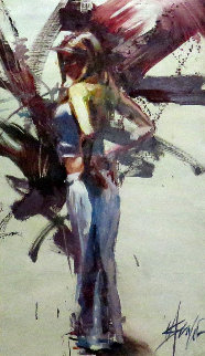 Exhilaration 45x30 Original Painting - Henry Asencio