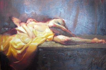 Dreamscape 2009 25x37 Original Painting - Henry Asencio