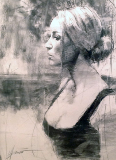 Consideration Drawing 2012 30x36 Drawing by Henry Asencio