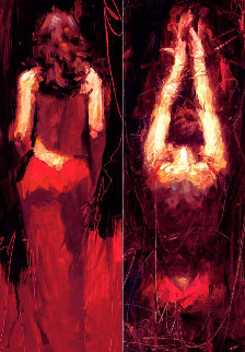 Passion Suite: Seduction and Surrender 2004 Set of 2 Embellished Limited Edition Print by Henry Asencio